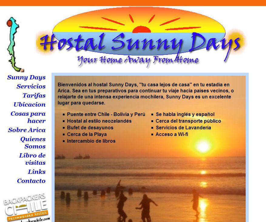 'Hostal Sunny Days Arica _ Sunny Days' - www_sunny-days-arica_cl_home_spa