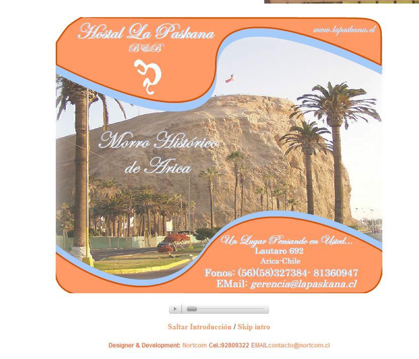 'Hostales en Arica, alojamiento en hostal arica' - www_lapaskana_cl