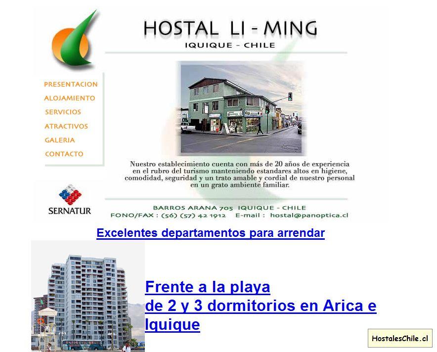 Hostales y Residenciales Chile - 'BIENVENIDOS A IQUIQUE' - www_hostal_cl