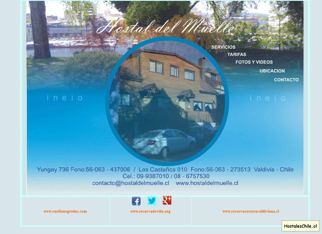 Hostales y Residenciales Chile - 'Bienvenidos a Hostal del Muelle' - www_hostaldelmuelle_cl