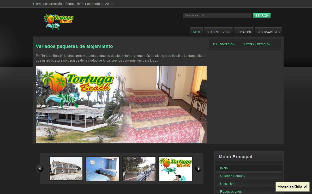 Hostales y Residenciales Chile - 'Bienvenidos a Tortuga Beach' - www_tortugabeach_cl