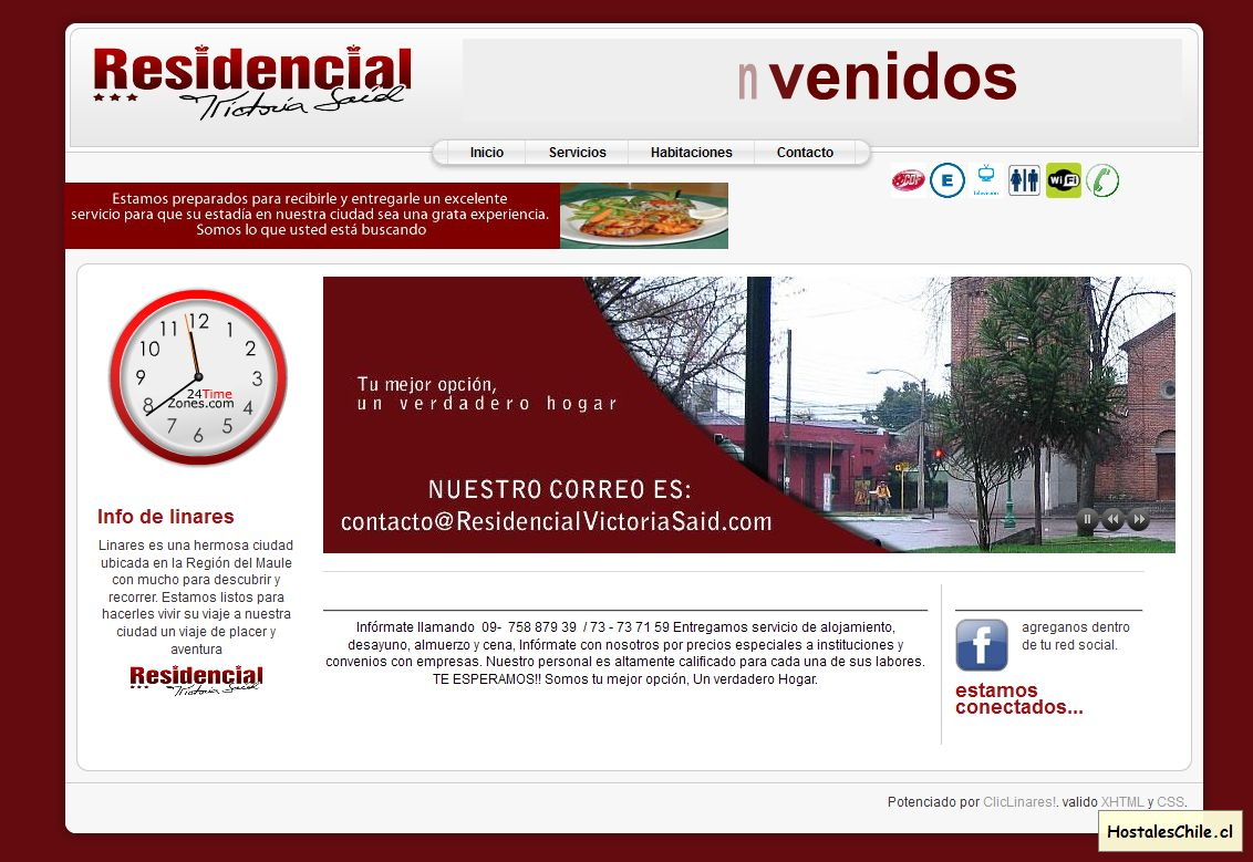 Hostales y Residenciales Chile - 'Bienvenidos a la portada' - www_residencialvictoriasaid_com