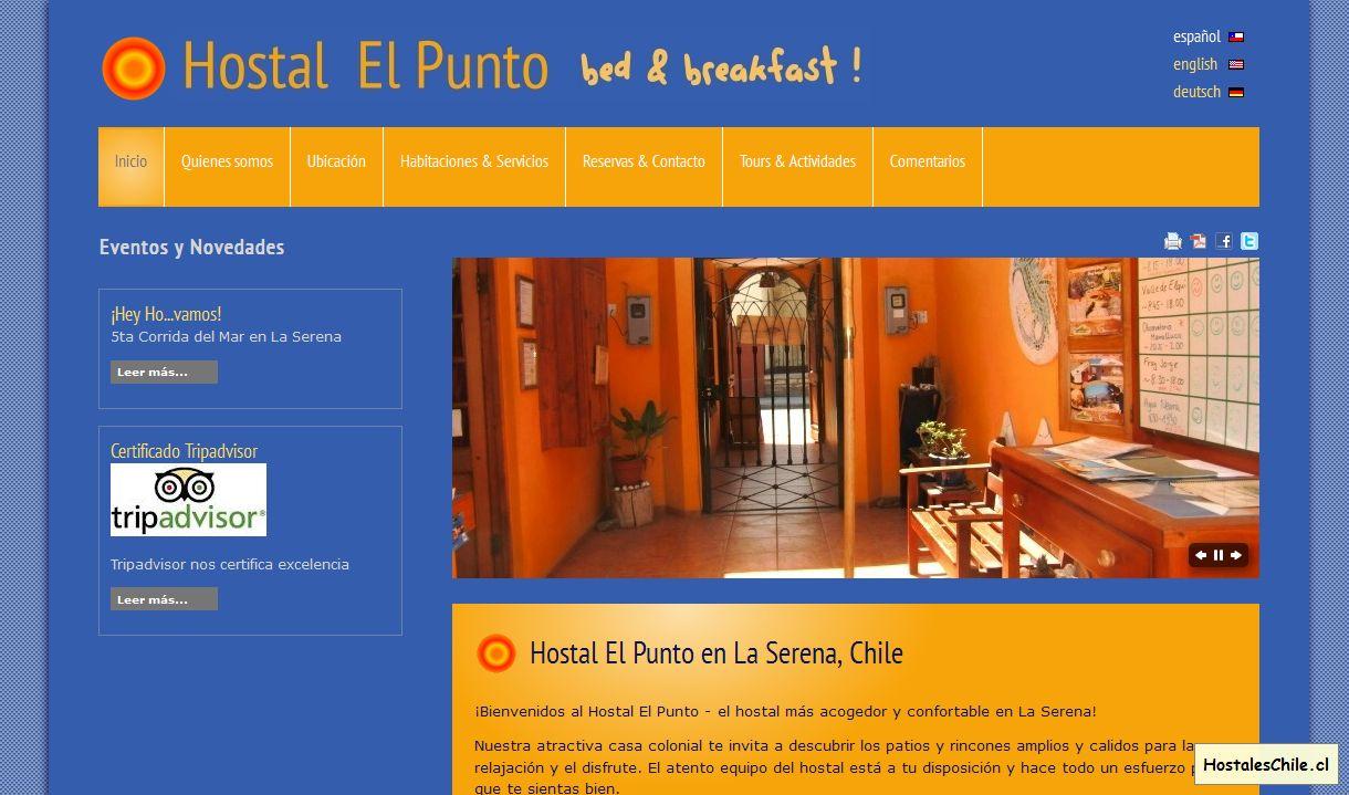 Hostales y Residenciales Chile - 'Bienvenidos al Hostal El Punto ! - Hostal El Punto' - www_hostalelpunto_cl