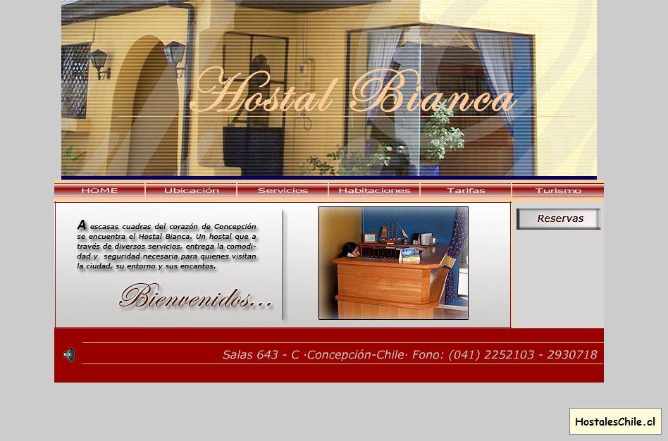 Hostales y Residenciales Chile - 'Bienvenidos' - www_hostalbianca_cl_portada_html