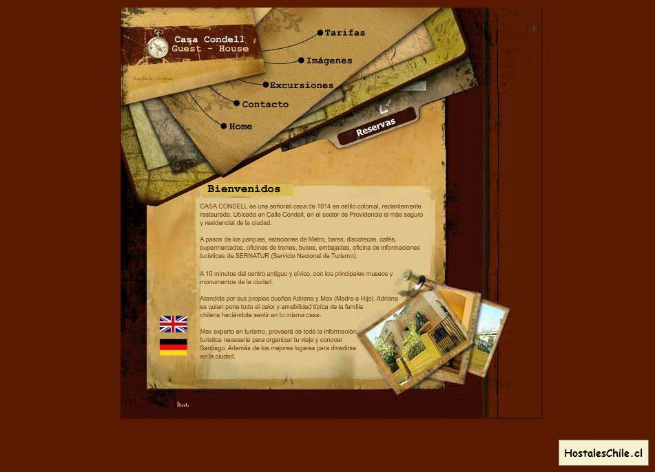 Hostales y Residenciales Chile - 'Casa Condell' - www_casacondell_com