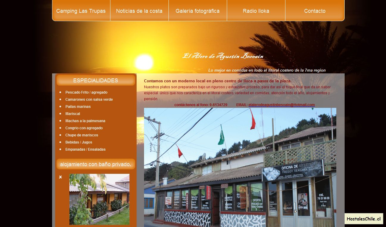 Hostales y Residenciales Chile - 'EL ALERO DE AGUSTIN BESOAIN' - www_elalerodeagustinbesoain_cl