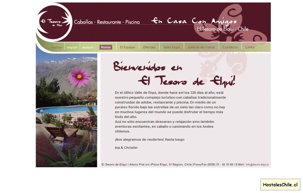 Hostales y Residenciales Chile - 'El Tesoro de Elqui' - www_tesoro-elqui_cl