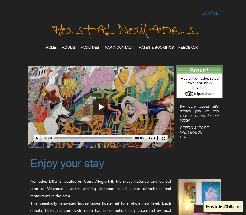 Hostales y Residenciales Chile - 'Enjoy your stay' - www_hostalnomades_cl_Home_html