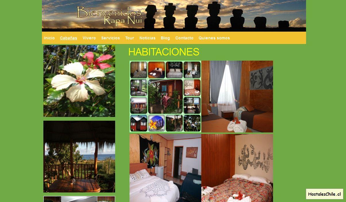 Hostales y Residenciales Chile - 'HABITACIONES I Agroturismo Keu Henua' - www_alojamientoenisladepascua_com_cabanas