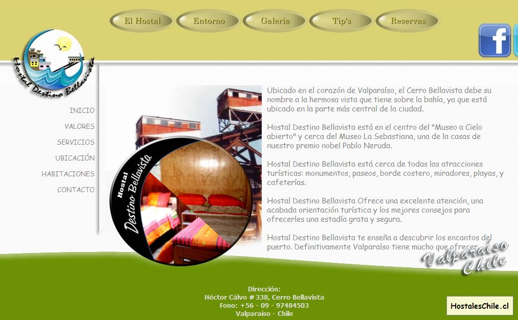 Hostales y Residenciales Chile - 'HOSTAL Destino Bellavista' - www_hostaldestinobellavista_cl_home_html
