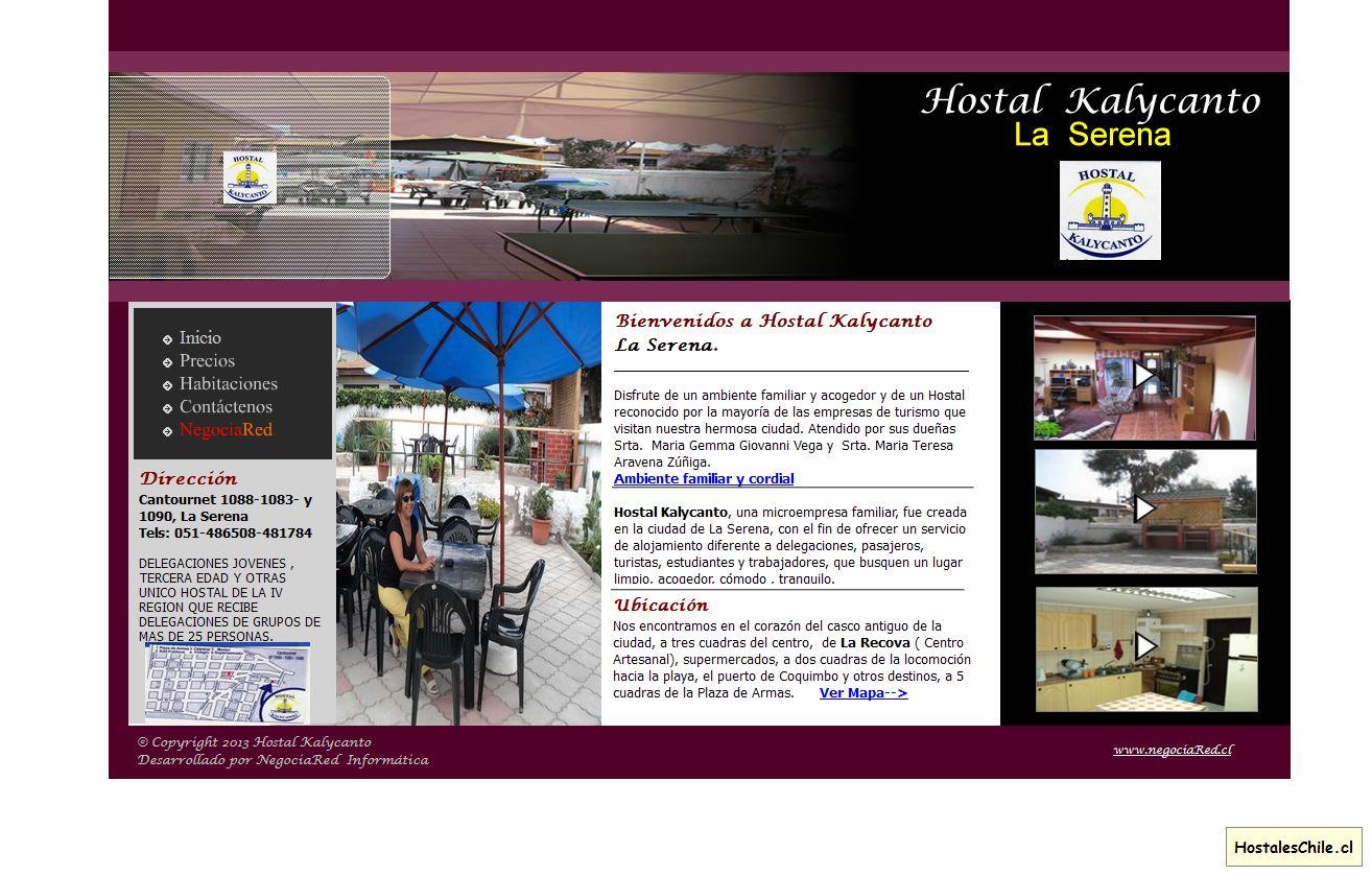 Hostales y Residenciales Chile - 'HOSTAL KALYCANTO - LA SERENA - CHILE' - www_hostalkalycanto_com