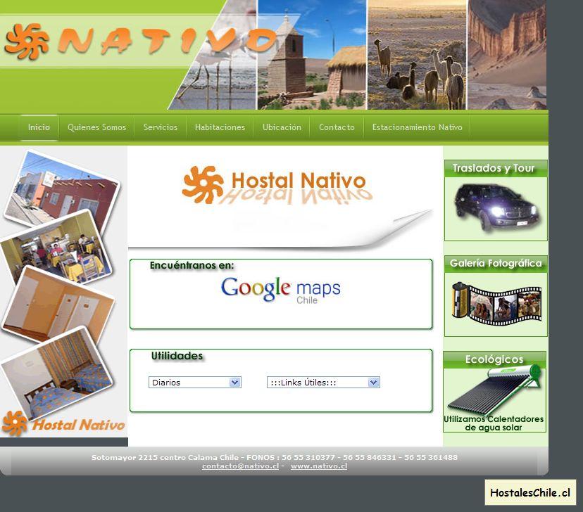 Hostales y Residenciales Chile - 'HOSTAL NATIVO_______ SERVICIOS TURISMAR LTDA_' - www_nativo_cl