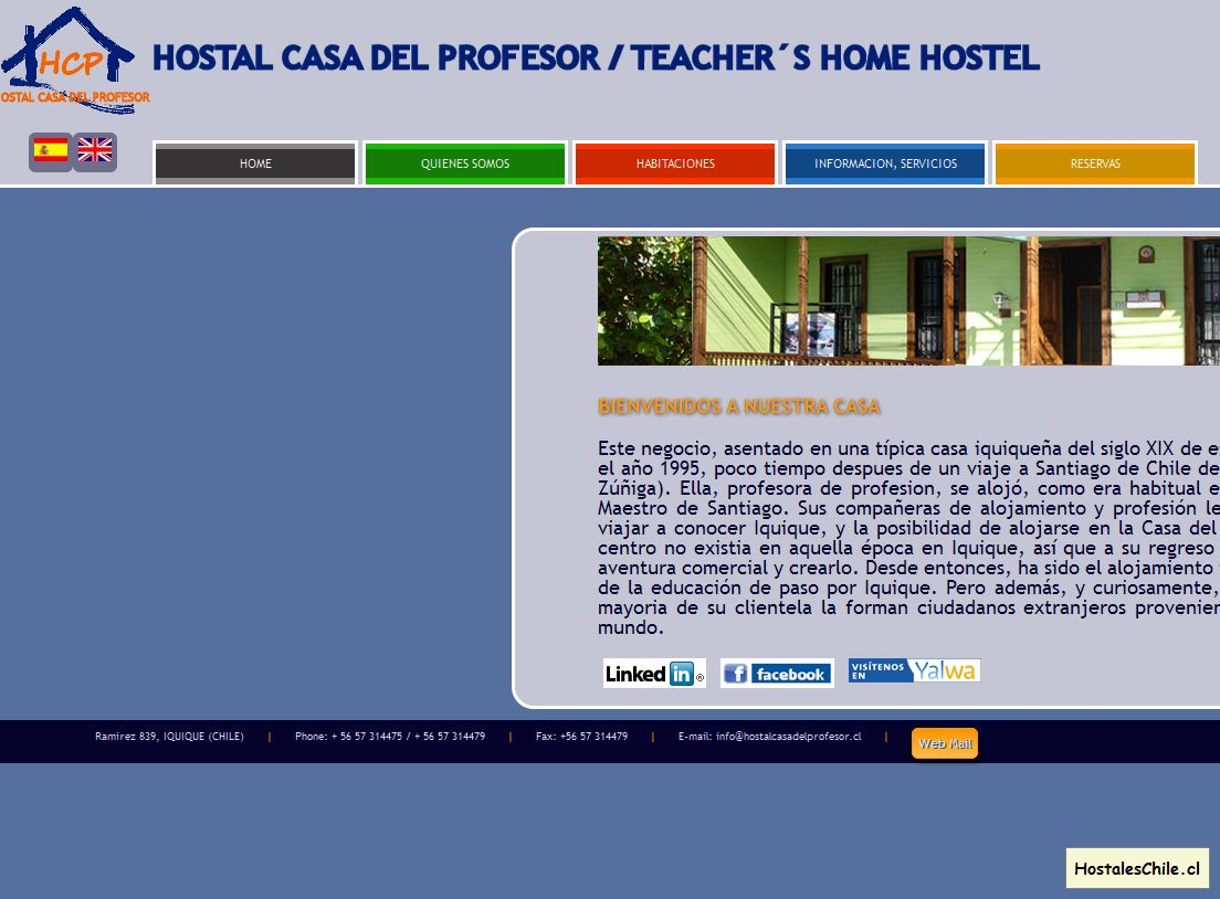 Hostales y Residenciales Chile - 'Home _ Pagina de inicio' - www_hostalcasadelprofesor_cl_index_html