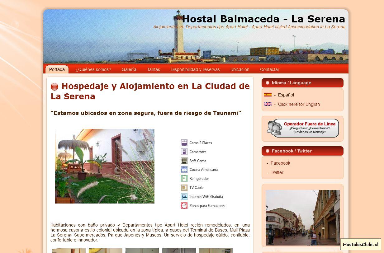 Hostales y Residenciales Chile - 'Hostal Balmaceda - La Serena I Alojamientos en Departamentos tipo Apart Hotel - Apart Hotel styled Accommodation in La Serena' - w