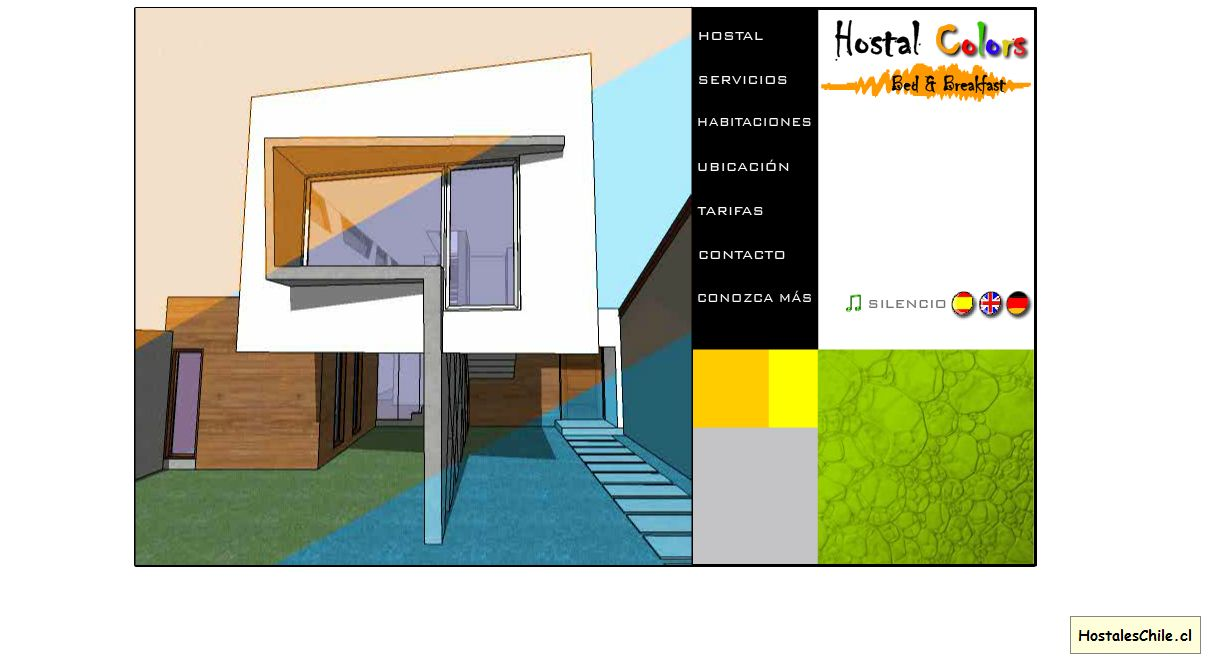 Hostales y Residenciales Chile - 'Hostal Colors' - www_hostalcolors_cl
