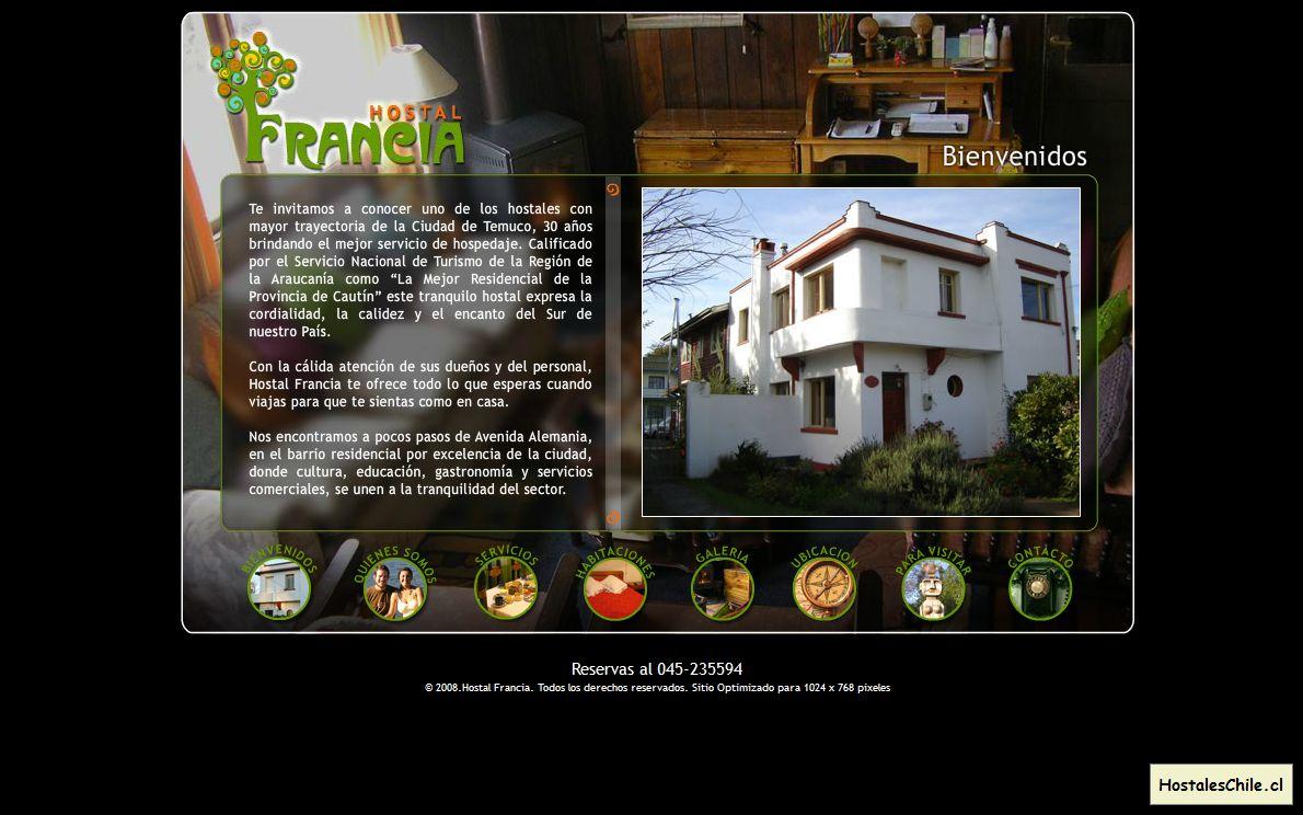Hostales y Residenciales Chile - 'Hostal Francia - Temuco -Alojamiento, Hospedaje' - www_hostalfrancia_cl
