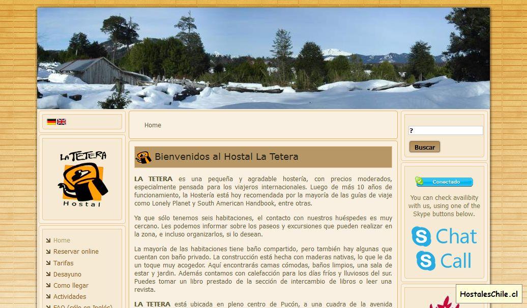 Hostales y Residenciales Chile - 'Hostal La Tetera' - www_tetera_cl