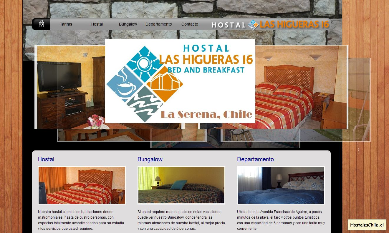Hostales y Residenciales Chile - 'Hostal Las Higueras 16 - Bed and Breakfast' - www_lashigueras16_cl