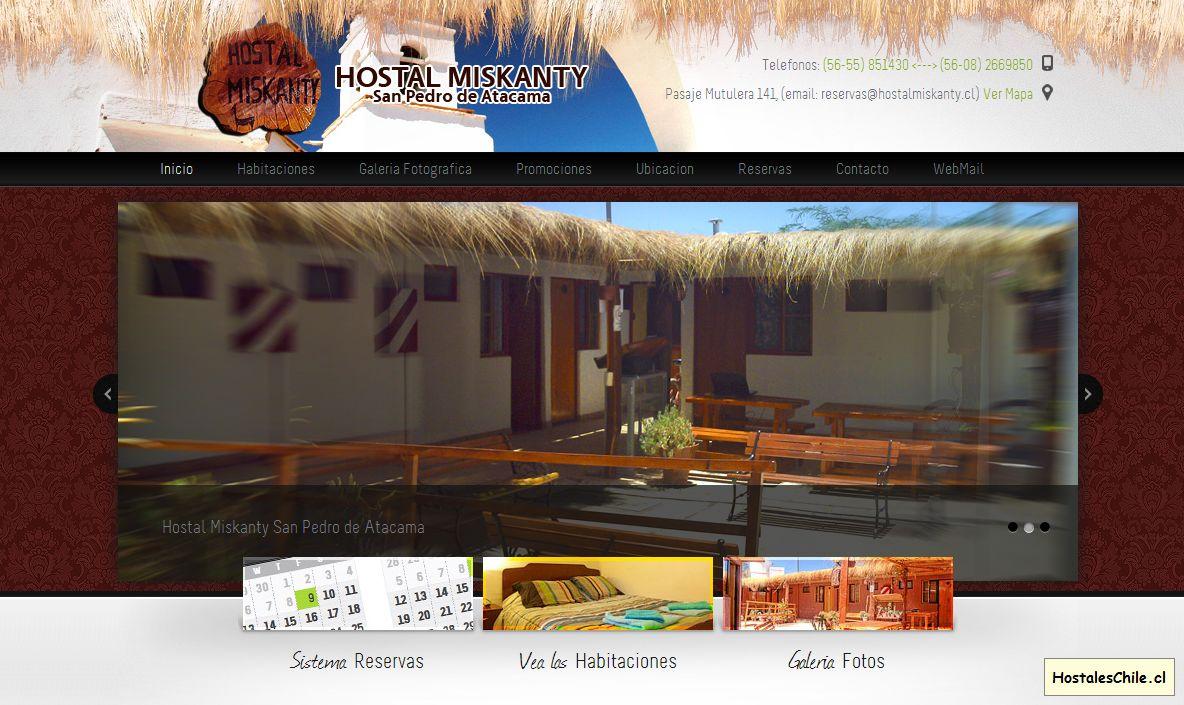 Hostales y Residenciales Chile - 'Hostal Miskanty - San Pedro de Atacama' - www_hostalmiskanty_cl_inicio