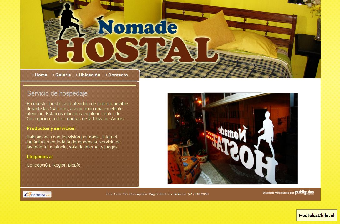 Hostales y Residenciales Chile - 'Hostal Nomade' - www_residencialnomade_cl