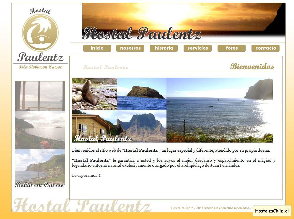 Hostales y Residenciales Chile - 'Hostal Paulentz - Isla Robinson Crusoe' - www_hostalpaulentz_cl
