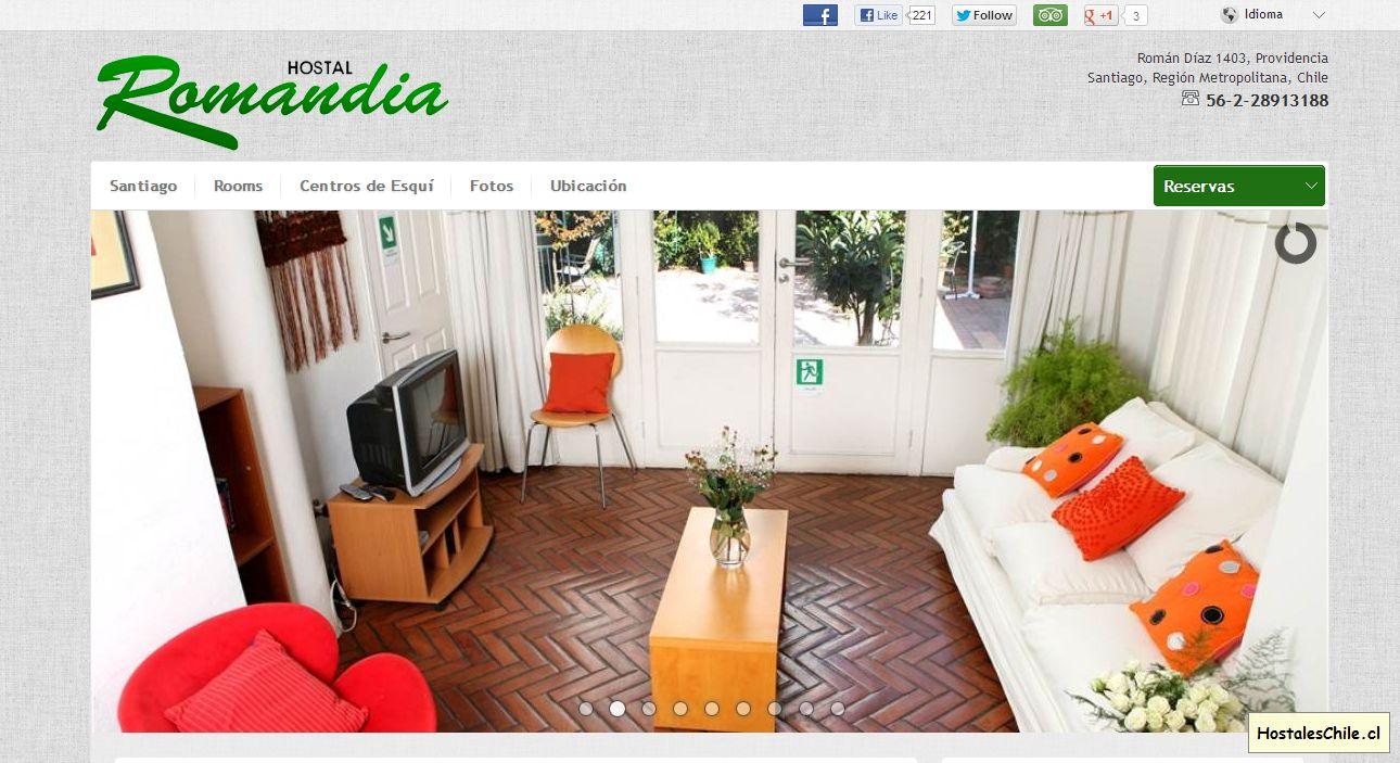 Hostales y Residenciales Chile - 'Hostal Romandia - Santiago - Chile' - www_romandia_cl