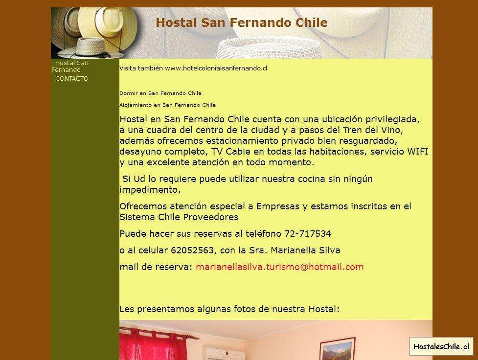 Hostales y Residenciales Chile - 'Hostal San Fernando Chile' - www_hostalensanfernando_cl