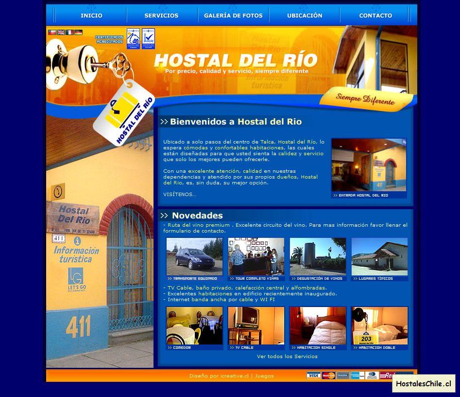 Hostales y Residenciales Chile - 'Hostal del rio - Septima region talca chile, por precio calidad y servicio siempre diferente' - www_hostaldelrio_cl