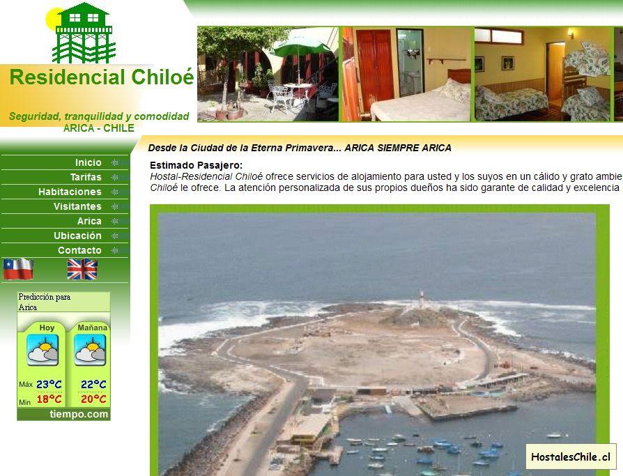 Hostales y Residenciales Chile - 'Hostal en Arica, Alojamiento en Hostal Residencial a bajo costo' - www_residencialchiloe_cl