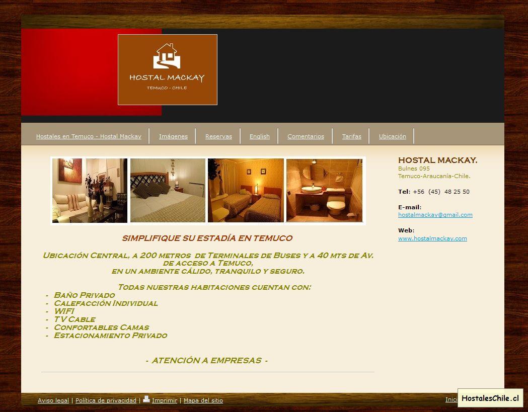 Hostales y Residenciales Chile - 'Hostales en Temuco - Hostal Mackay - htlcs jimdo page!' - www_hostalmackay_com