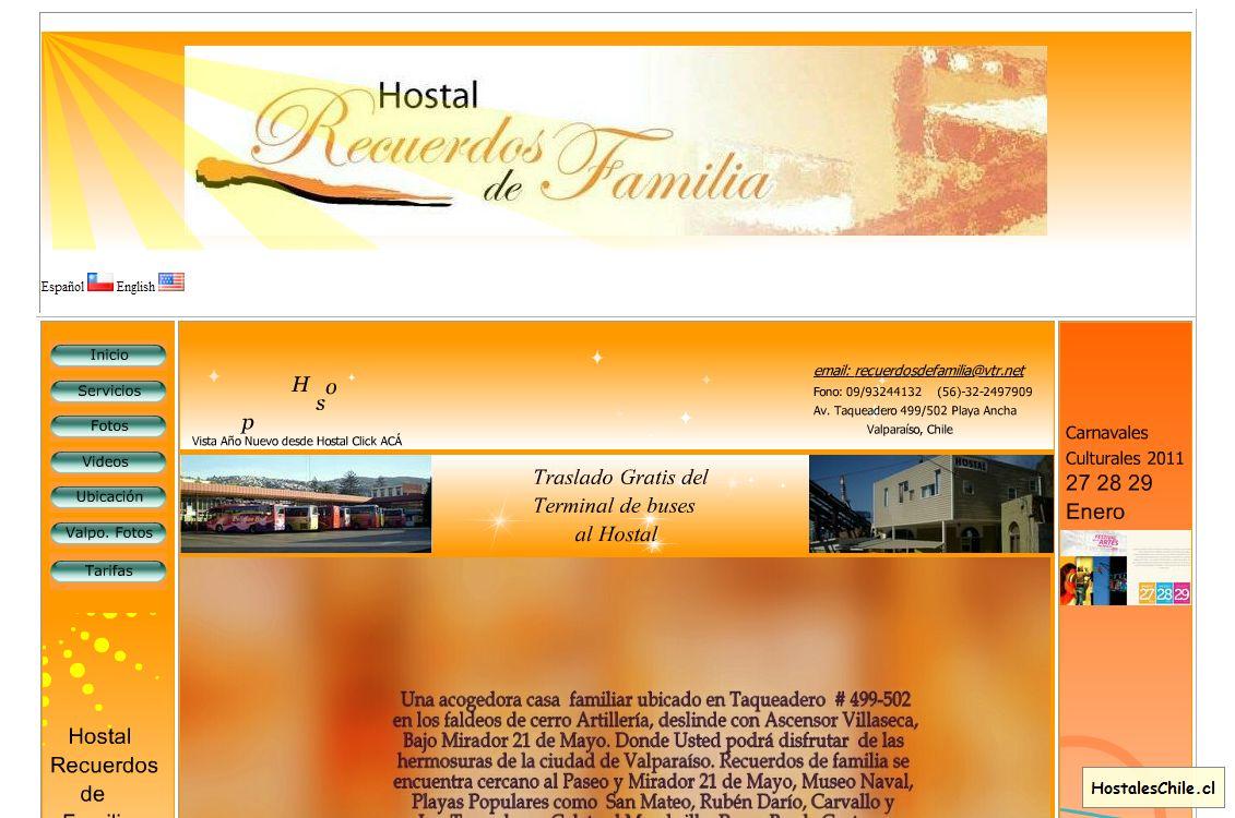 Hostales y Residenciales Chile - 'Hostel Recuerdos de Familia Valparaiso Chile' - www_recuerdosdefamilia_com