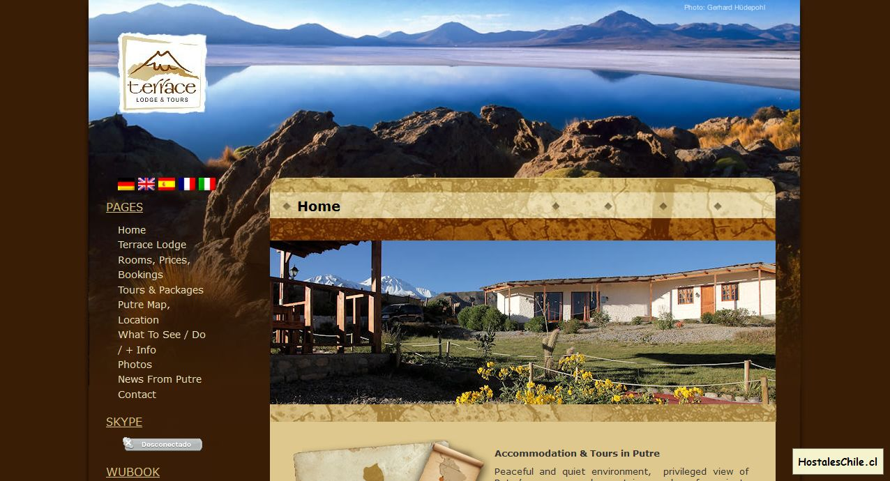 Hostales y Residenciales Chile - 'Hotel Putre I Tours Putre chile I lodging accommodation Putre I alojamiento Putre I Terrace Lodge & Tours' - www_terracelodge_com