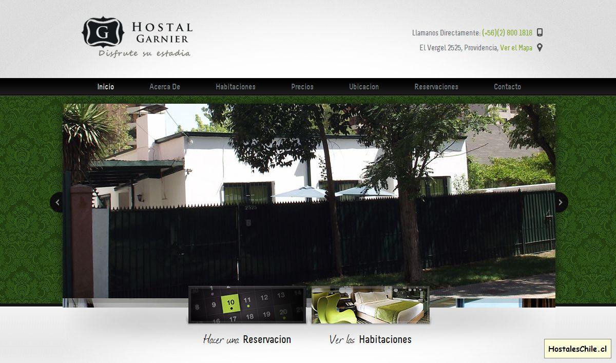 Hostales y Residenciales Chile - 'Inicio I Hostal Garnier' - www_hostalgarnier_cl