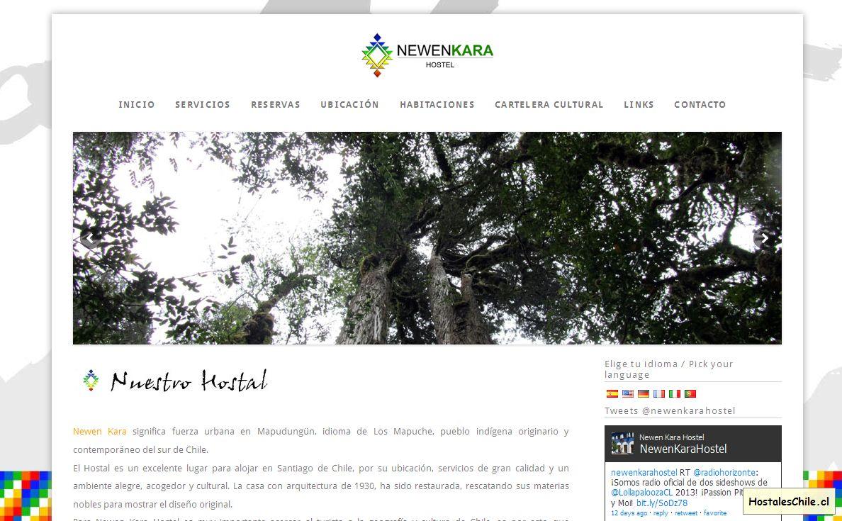 Hostales y Residenciales Chile - 'Newen Kara Hostel - Santiago de Chile' - www_newenkarahostel_cl