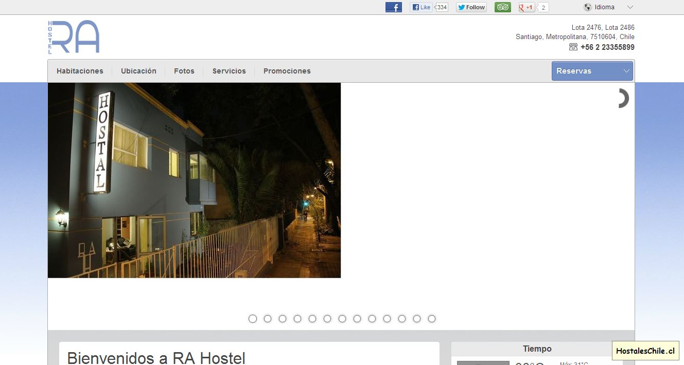 Hostales y Residenciales Chile - 'RA Hostel - Santiago - Chile' - www_chile-hostel_com