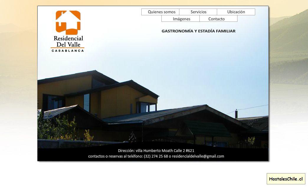 Hostales y Residenciales Chile - 'RESIDENCIAL DEL VALLE - Casablanca' - www_residencialdelvalle_cl