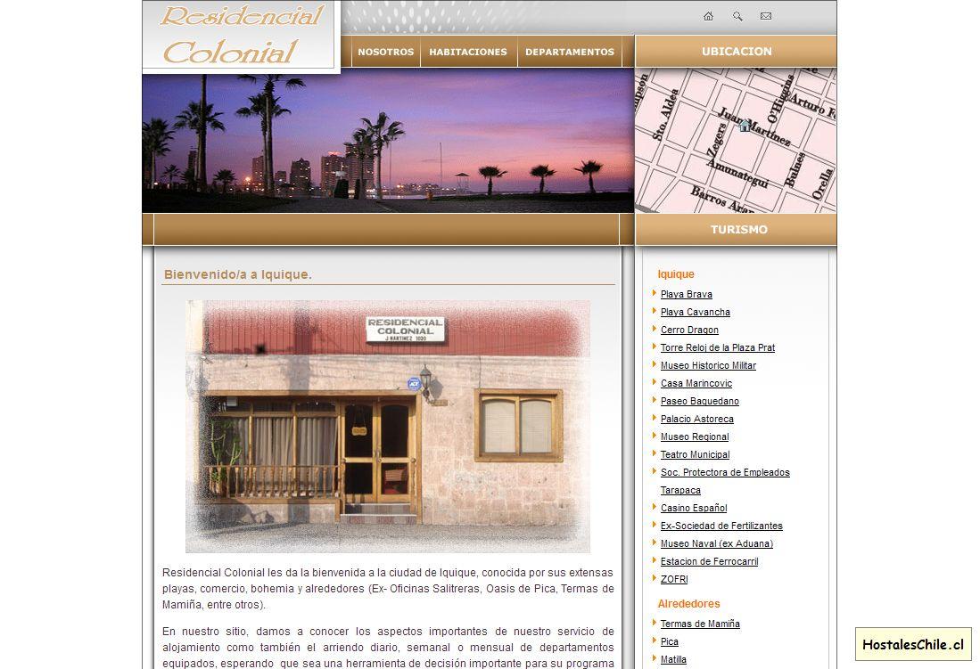 Hostales y Residenciales Chile - 'Residencial Colonial - Inicio' - www_residencialcolonial_cl