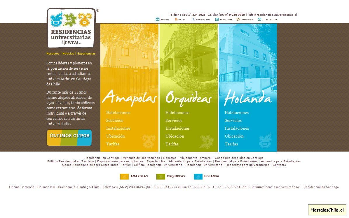 Hostales y Residenciales Chile - 'Residencial en Santiago, Arriendo de Habitaciones, Residencia Universitaria, Departamentos para estudiantes, Hospedaje para univer