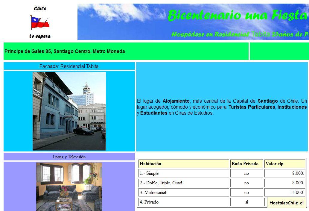 Hostales y Residenciales Chile - 'Tabita Residencial Alojamiento Hospedaje Centro Santiago' - www_alta_webatu_com