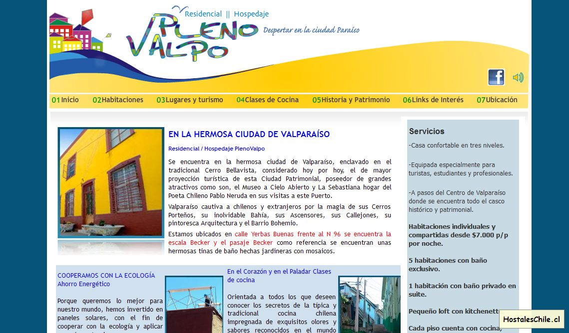 Hostales y Residenciales Chile - 'Welcome to the Frontpage' - www_plenovalpo_cl_portal