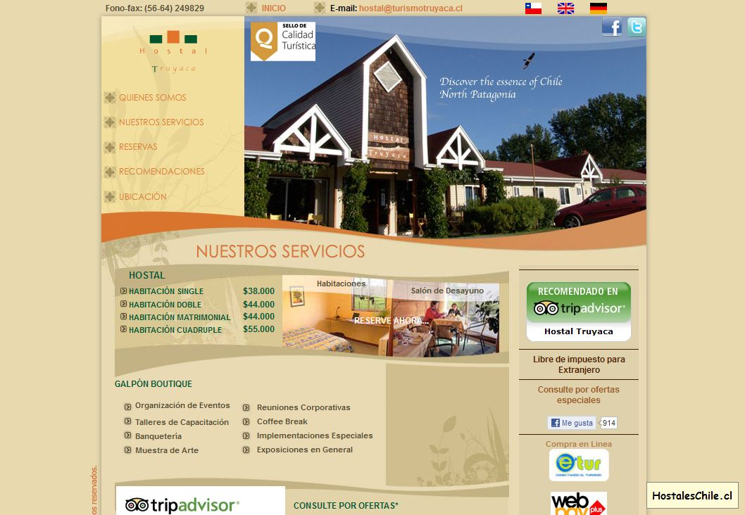 Hostales y Residenciales Chile - '____ Home - Hostal Truyaca ____' - www_turismotruyaca_cl_home_php_op=ES
