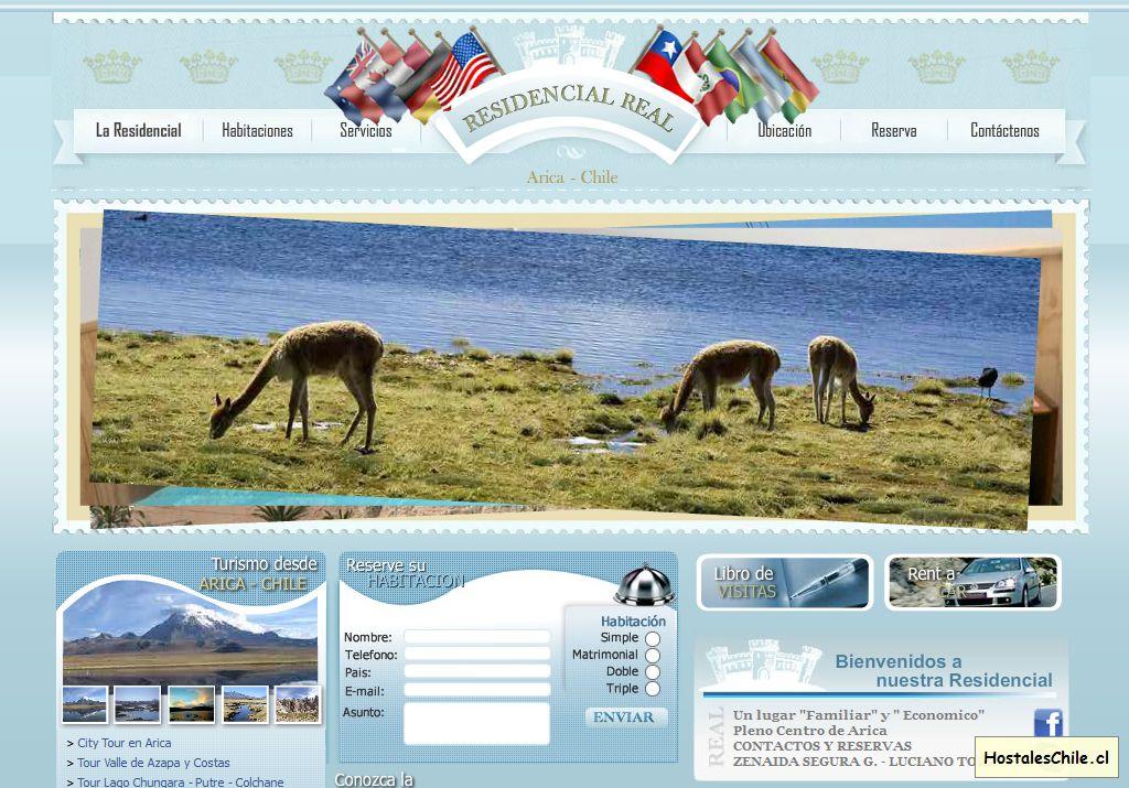 Hostales y Residenciales Chile - '______ WEB RESIDENCIAL REAL ______' - www_residencialrealarica_com