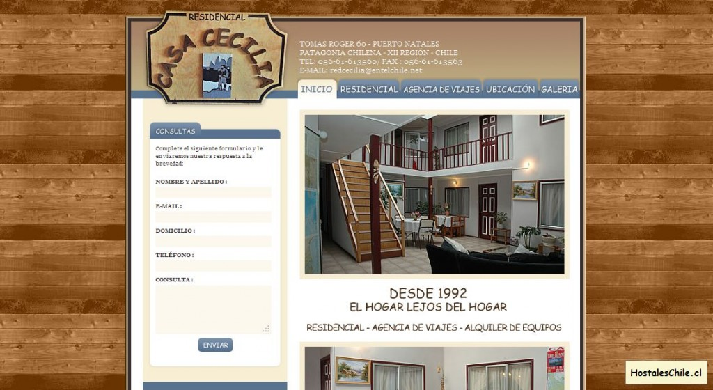 Hostales y Residenciales Chile - 'Casa Cecilia - Puerto Natales - Chile' - [object XrayWrapper [object HTMLImageElement]]