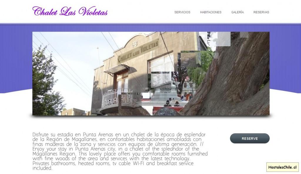 Hostales y Residenciales Chile - 'Chalet Las Violetas' - www_chaletlasvioletas_com_hostal