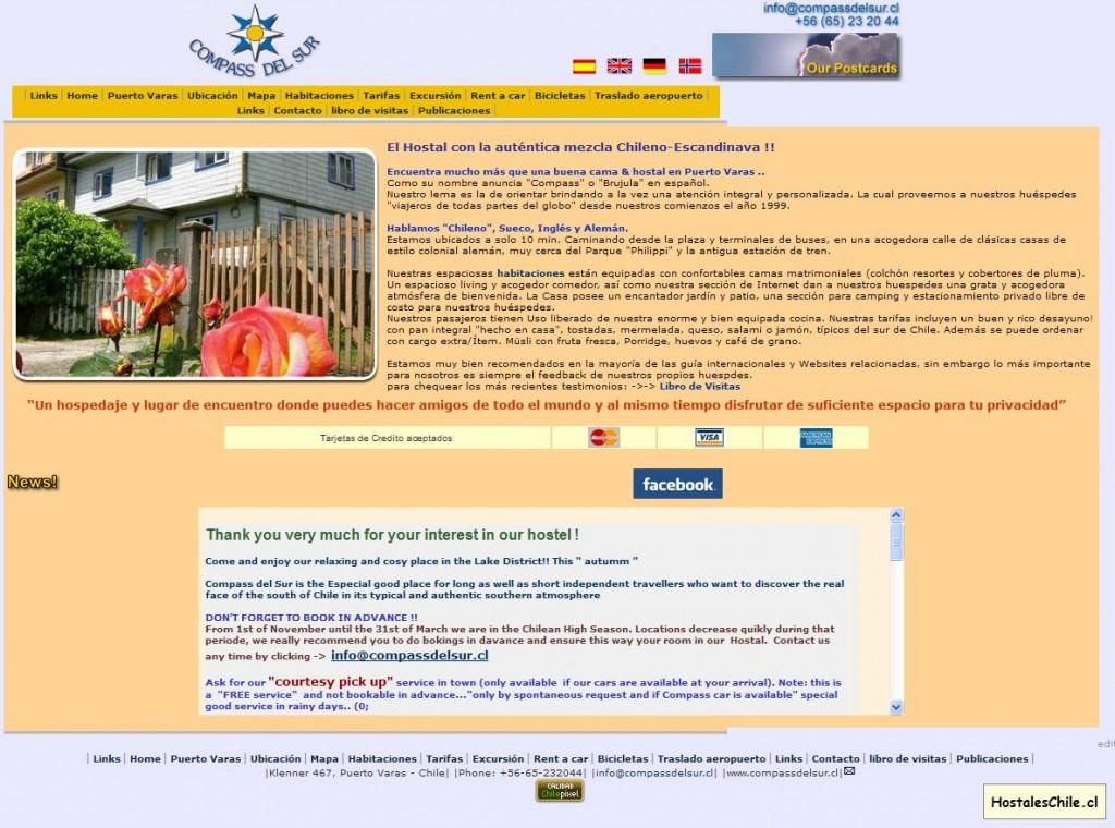 Hostales y Residenciales Chile - 'Compass del Sur' - www_compassdelsur_cl_spanish