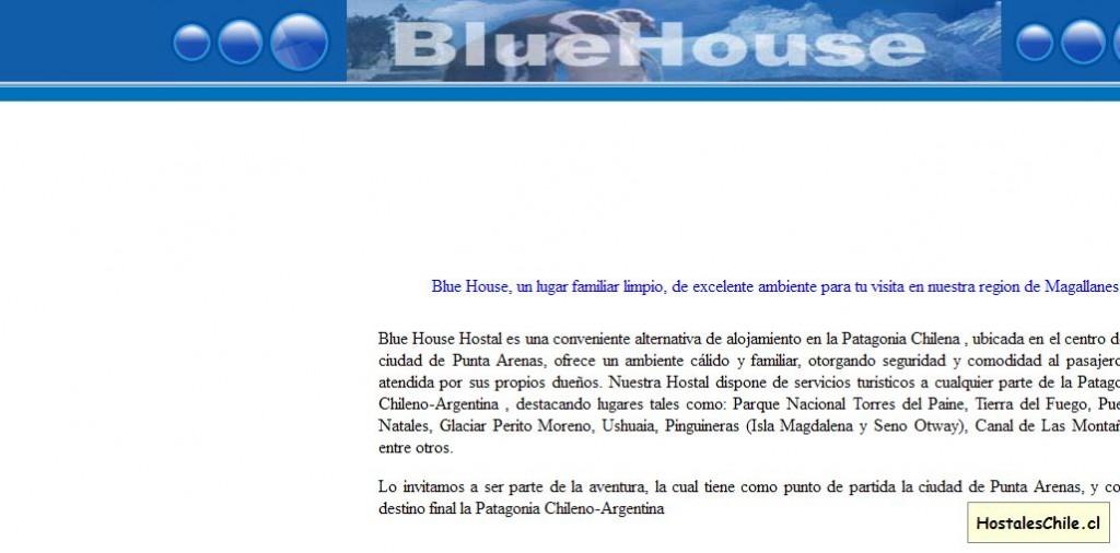 Hostales y Residenciales Chile - 'HOSTAL BLUE HOUSE' - www_puntaarenastour_cl