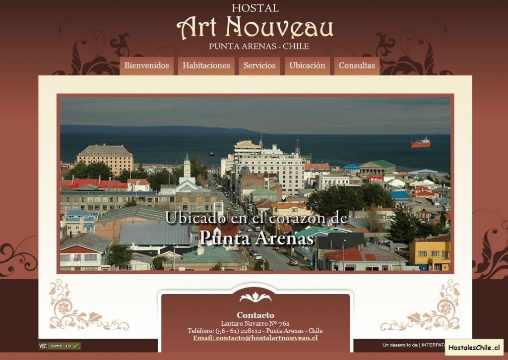 Hostales y Residenciales Chile - 'Hostal Art Nouveau - Punta Arenas' - www_hostalartnouveau_cl
