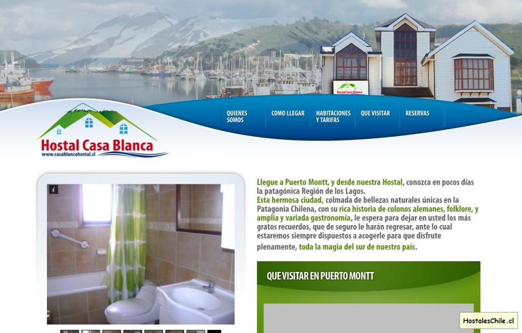 Hostales y Residenciales Chile - 'Hostal Casa Blanca en Puerto Montt' - www_casablancahostal_cl