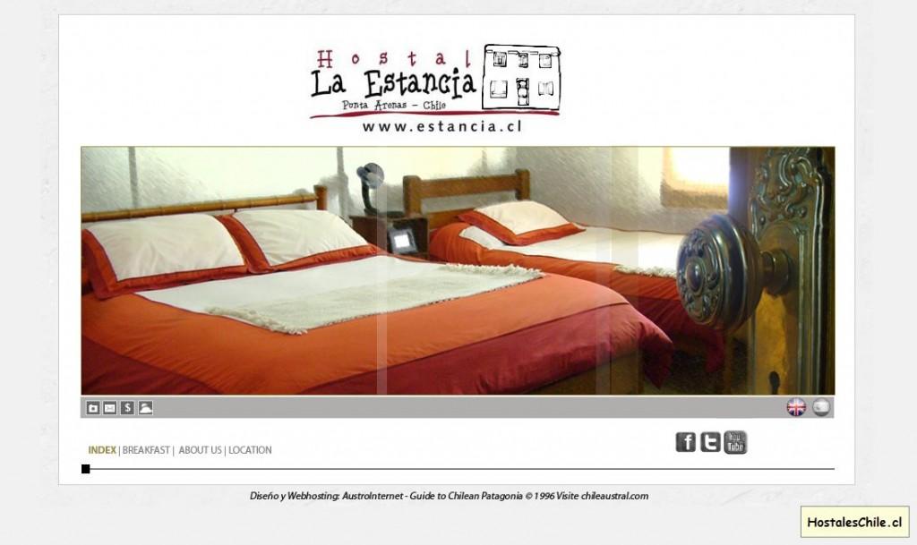 Hostales y Residenciales Chile - 'Hostal La Estancia - 2011' - www_estancia_cl