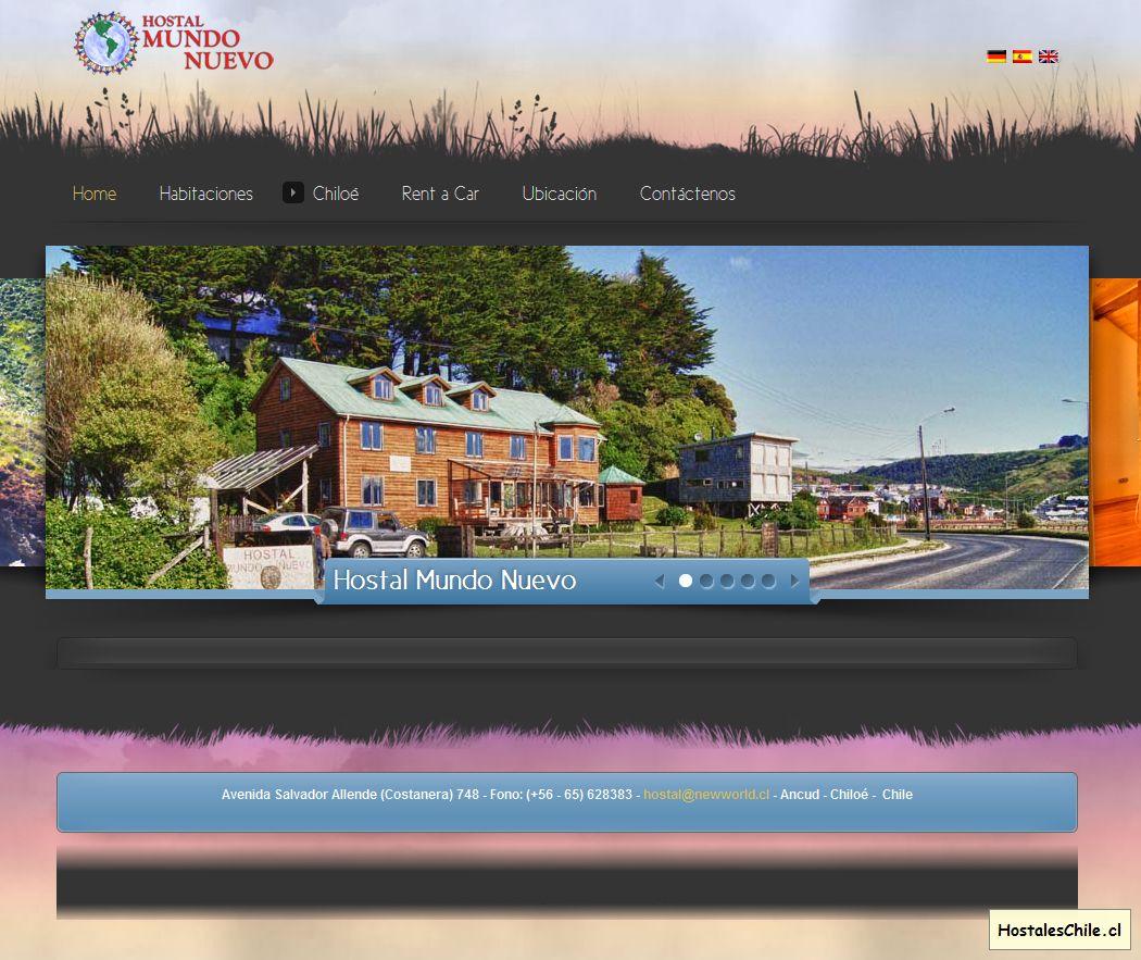 Hostales y Residenciales Chile - 'Hostal Mundo Nuevo - Ancud - Chile' - www_newworld_cl